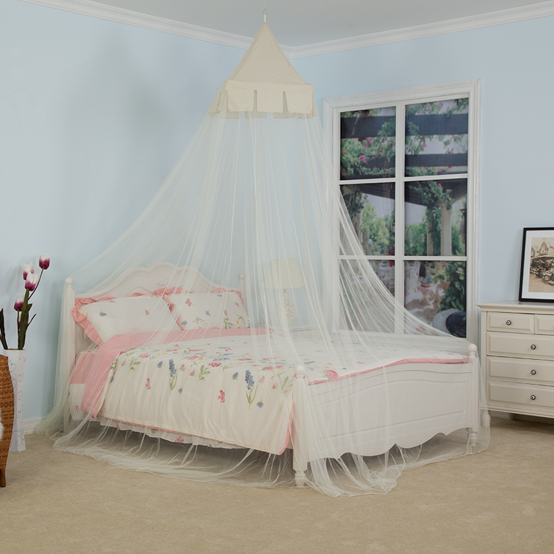 Wholesale Customized 2020 White Full Cover King Size Frame Rectangular Double Bed Polyester Cotton Bedroom Mosquito Net