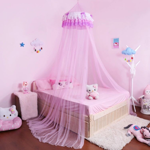 Beautiful 100% Nylon Mosquito Nets Decorate With Lace