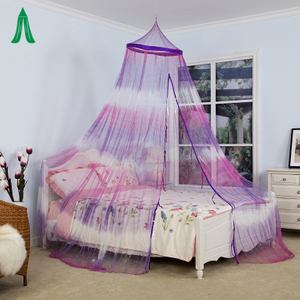 Luxury Girls Princess Hanging Tie Dye Style Mosquito Net Crown Bed Canopy