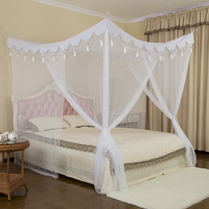 Bedroom Four Corner Mosquito Nets Bed Princess Bed Canopy with Tassel