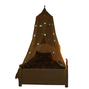 Popular Round Hanging Bed Canopy Glowing Butterfly Decor Mosquito Nets