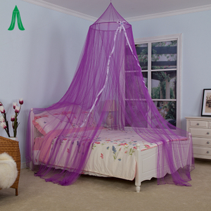 Fashion Queen Size Pretty Girl Room Decoration Purple Mosquito Bed Canopy