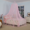 The Most Popular Mosquito Net With Purple Spire Bow Ribbon Streamer Decoration Bed Canopy Girl Room Decoration Baby Mosquito Net