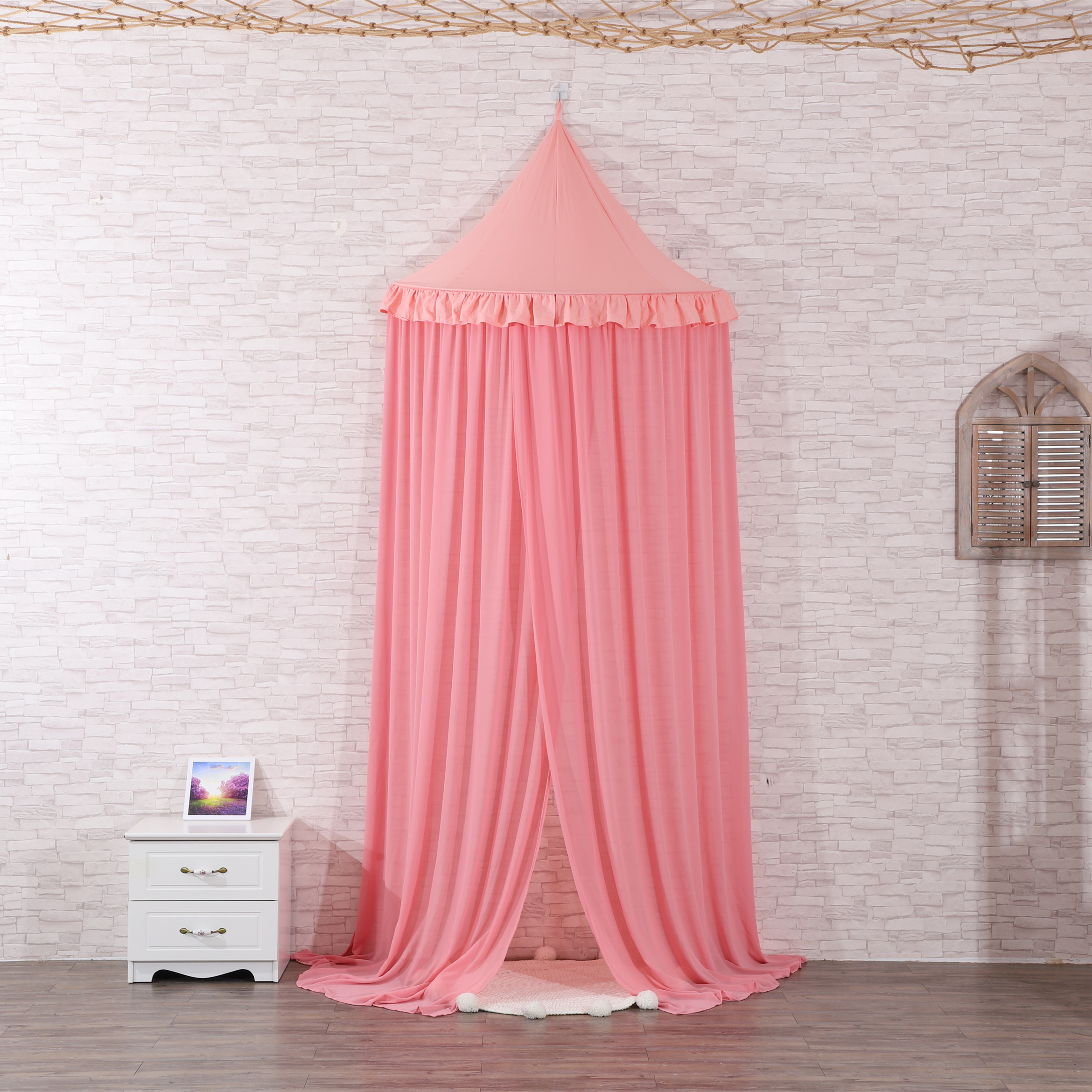 New Design Princess Mosquito Nets half round Girls Bedside Bed Canopy