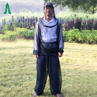 Outdoor Camping Folding Mosquito Body Suit Mosquito Net Jacket With Head Insect Net
