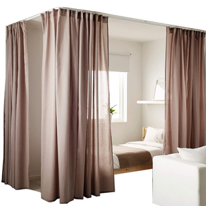 Amazon Best Seller Bed Curtains With FLEXIBLE CURTAIN TRACK SYSTEM