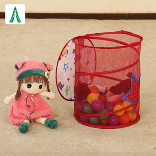Cute plush toys storage laundry hamper for children