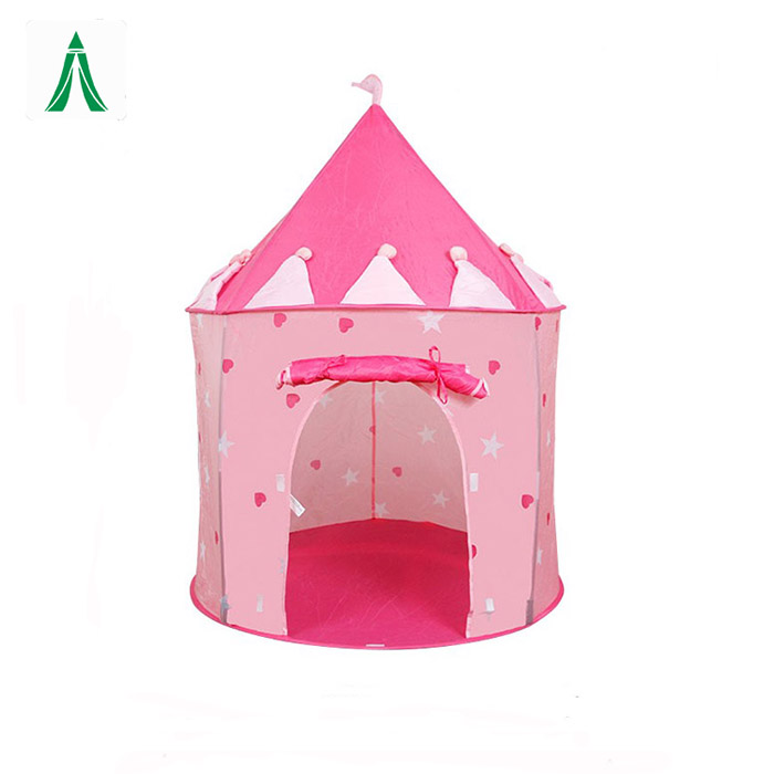 Foldable Pop Up Indoor&Outdoor Blue Castle Tent Kids Play Teepee Tent