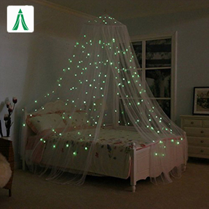 100% Polyester Customized Design Cotton Mosquito Net For Bed Canopy with Stars