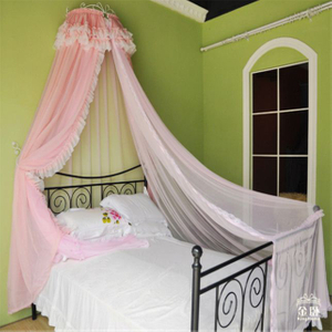 New 2018 Mosquito Net for Bed Canopy Queen with Crown Rack