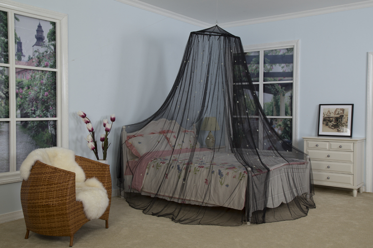 Hot selling Luminous Stas Decor Bed Canopy Folding Protecting Mosquito Nets