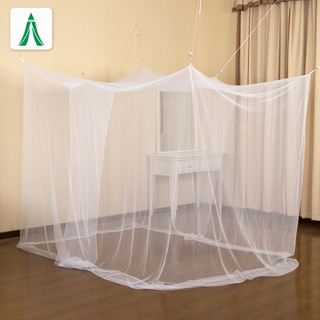 Four Corner Post Single Twin XL Size Bed Indoor Outdoor Mosquito Net