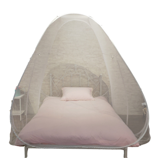 Good Sewing Factory Price White King Size Pop Up Mosquito Net Tent
