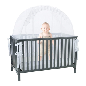Prevent Baby Climbing Out Safety Pop Up Baby Crib Canopy Cover Tent Crib Net