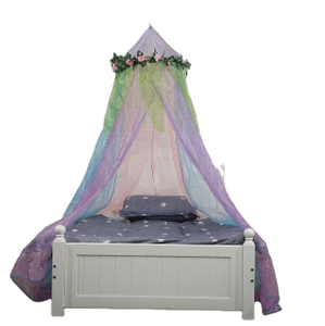EBay Amazon Hot Sales Floral Fairy for Girls Bed Protected Baby Bed Crown Canopy Mosquito Nets