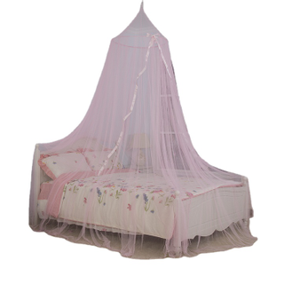 2020 New Product Girls Hanging Bed canopy Silk Ribbon Mosquito Nets
