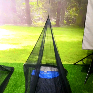 Camping Mosquito Bed Net Bug Net for Single Cot Army Green for Outdoor