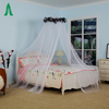 Large Hanging Black Feather Top Canopy Mosquito Nets for Double Bed