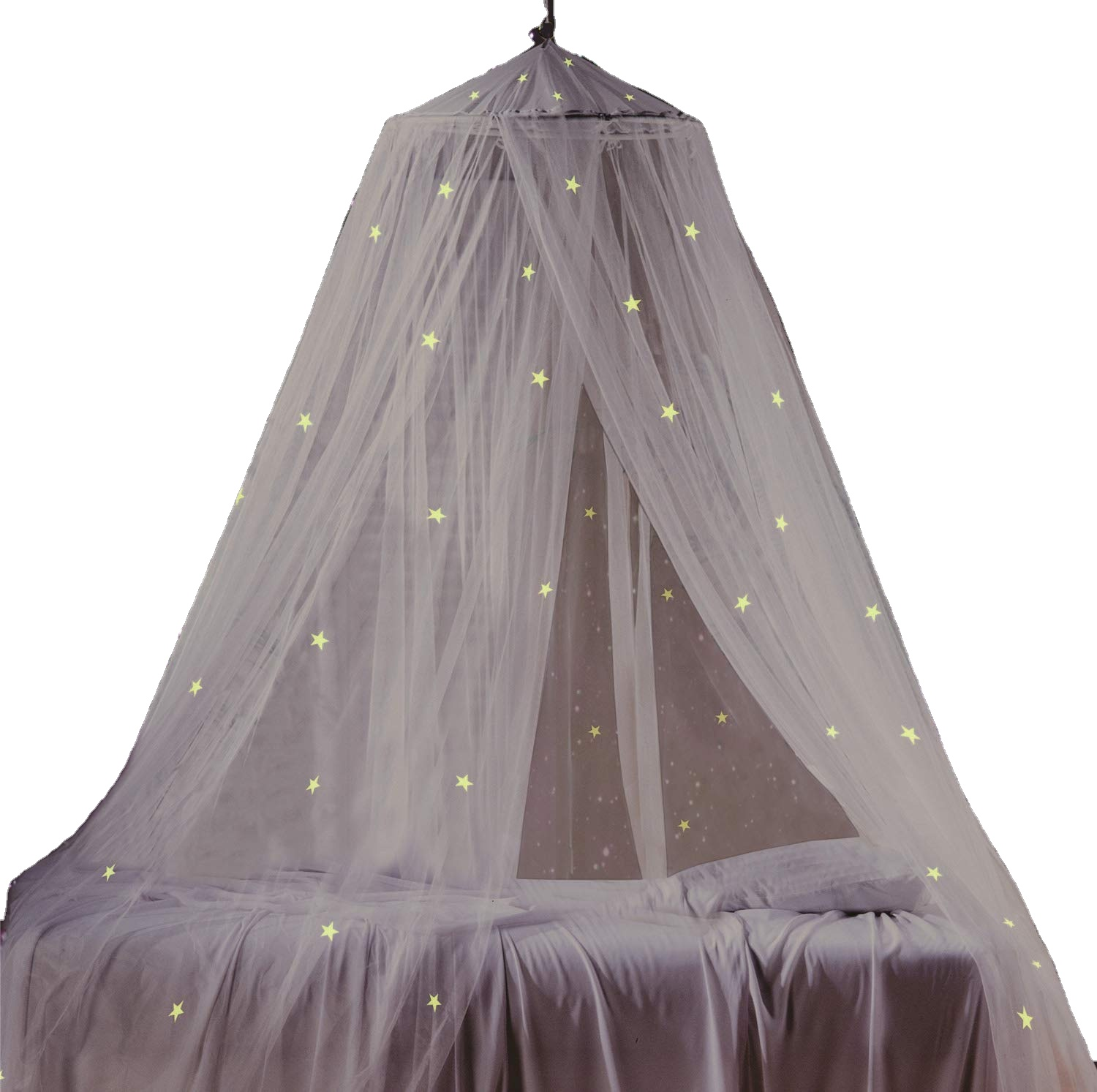Amazing Best Sales Growing In The Dark Stars Theme Set Black Bed Canopy Mosquito Net