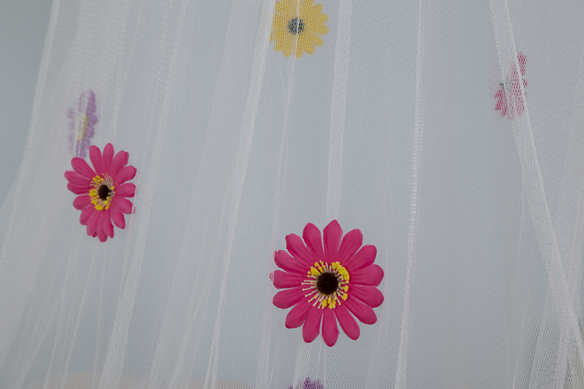 New Design Colorful Decor Flowers Lace Mosquito Nets for Girls