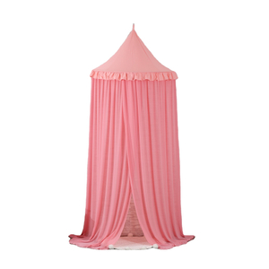 New Style Polyester Pink Mosquito Nets Circular Princess Girls Bed Canopy