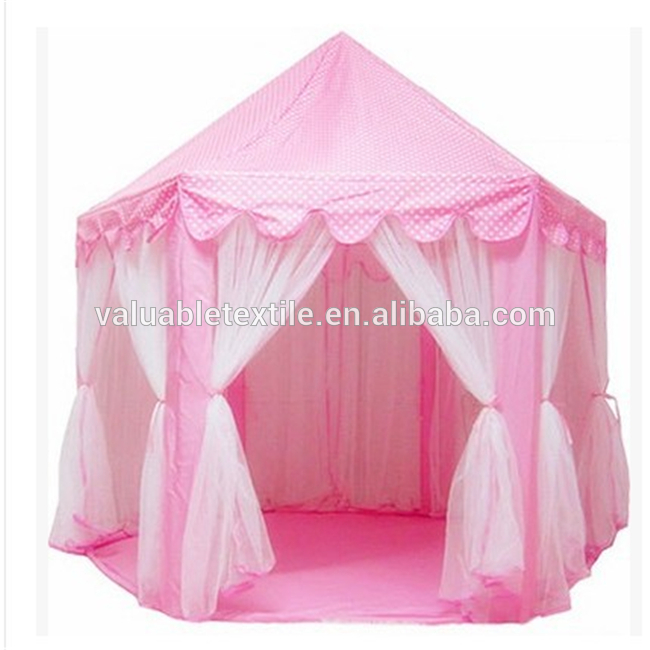Customized design kids folding castle play princess tent
