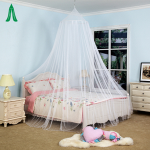 100% Polyester Circular Top Conical Simple Mosquito Canopy Net For Bed