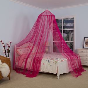 Hot Sale Chinese Factory Directly Hanging Folded Double Bed Canopy Red Mosquito Net