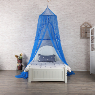New Style Folding Bed Canopy Hanging Mosquito Nets with Silver Sequins