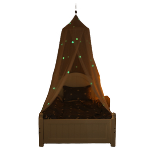 Bed Canopy Glow in The Dark Hanging Large Bed Tent Canopy for Kids Bedroom Tent with Stars Lights Ideal Bedroom Mosquito Net