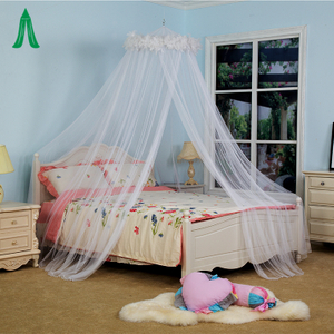 Adult White Feather Hanging Mosquito Net / Mosquito Bar / Bed Curtain