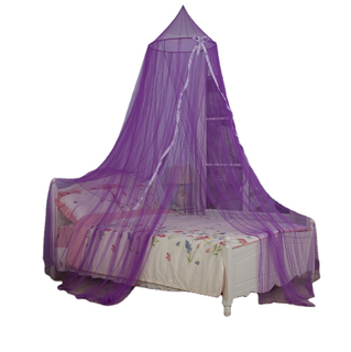 Popular Conical Hanging Bed Canopy Girs Mosquito Nets with Ribbon Decor