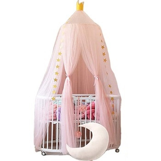 Bed Canopy Premium Yarn Play Tent Bedding for Kids Playing Reading with Children Round Lace Dome Netting Curtains Baby Boys And
