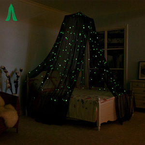Beautiful Star Luminous Dome Bed Canopy Netting Princess Mosquito Net
