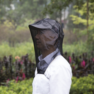 Camping Or Outdoor Work Operation Necessaries Black Anti Mosquito Net For Head